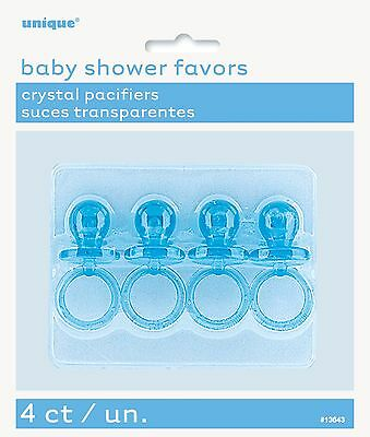 """Baby Shower 2"""" pacifiers pink or blue baby shower favors"""