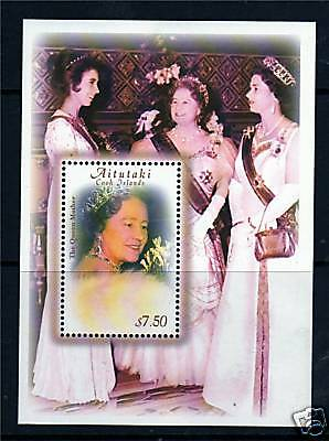 Aitutaki 2000 Queen Mothers 100th B/day M.S.SG711 MNH