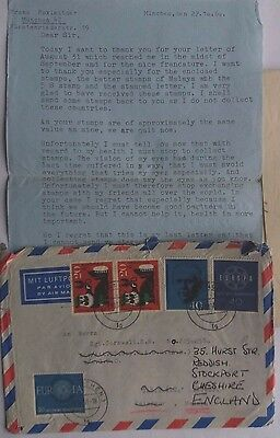 Germany 1960 Airmail Cover & Letter To Royal Army Service Corps Selangor Malaya