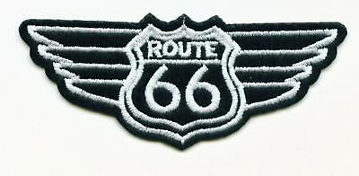 Aufnäher Patch American Highway ROUTE 66 USA Wings