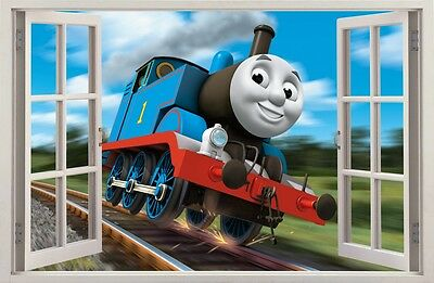 TRAIN THOMAS 3D Effect Window WALL STICKERS Sticker Decor Mural 67