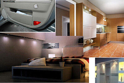 3 LED Wall Light Car Tent Kitchen Cabinet Closet Lighting Sticker Tap Touch Lamp