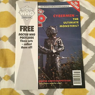 Doctor Who Monthly Magazine 189 Marvel 1992