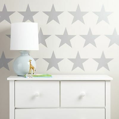 SILVER STARS Wall Stickers Art Kit decal graphic nursery cute 2 sizes options