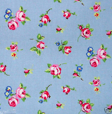 130cm X 50cm rosebuds blue PVC wipe clean oilcloth TABLECLOTH CO