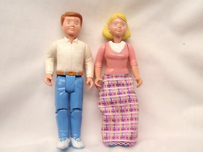 Fisher Price Loving Family Dream Dollhouse Father & Mother - Nice!