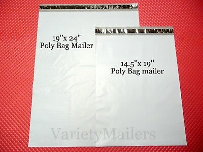 8 Poly Bag Postal Envelope Mailer Combo (3) 19x24 + (5) 14.5x19 Self-Sealing