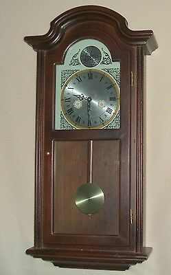 Walnut Wall Clock with Westminster Chimes