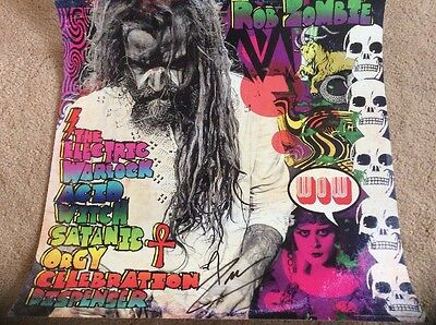 Rob Zombie Signed Large Poster + Rob Zombie Figure McFarlane. Halloween Horror