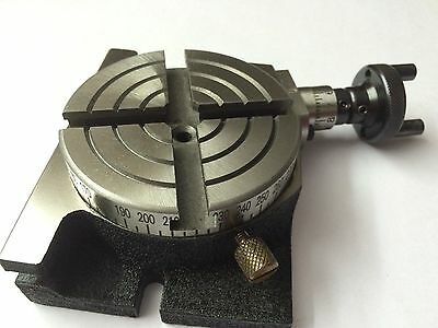 "3"" Inches (75 mm) Rotary Table 4 Slot for Milling"
