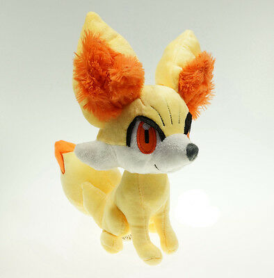 "9"" Cosplay Pokemon XY Fennekin Plush Soft Fox Fokko Toy Stuffed Doll Kid Gift"