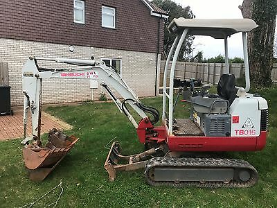 Takeuchi TB016 2009 mini digger, not JCB Hitachi