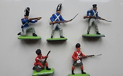 Britains deetail toy soldiers - British & French Napoleonic Infantry - 5 figures