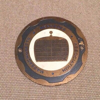 Mercedes Association Massachusetts Car Grille Grill Badge, Vintage Mercedes Benz