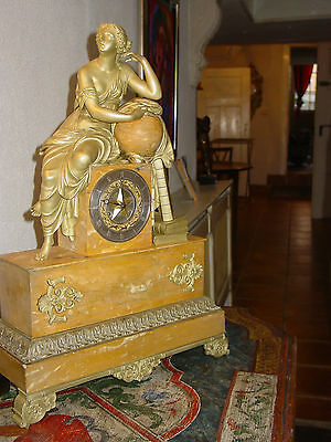 Mega Empire Clock, Uhr 64 Cm  Marble With Bronze About 1820