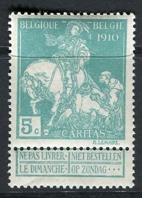 BELGIUM;  1910 Brussels Exhibition issue Mint hinged 5c. value, type B