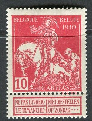 BELGIUM;  1910 Brussels Exhibition issue Mint hinged 10c. value, type B