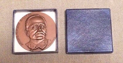 Armand Peugeot - French Automobile Pioneer - A Bourroux Bronze Medal Paperweight