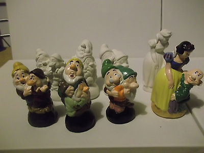 Disney Snow white and the seven dwarfs paint your own figures