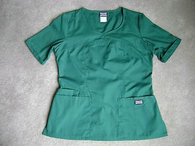 Cherokee Women's Green Scrub Top Medical Uniform Scrubs Cotton Blend S Small