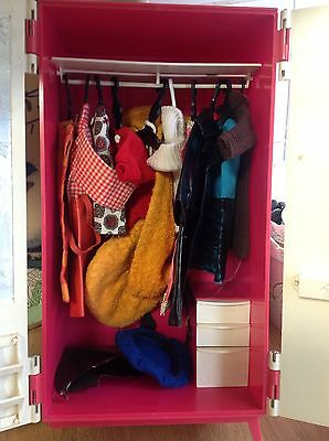 Vintage 1965 Sindy doll boxed  wardrobe with clothes