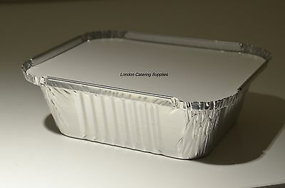 50 x No2 Catering Aluminium Foil Food Container Take Away Box