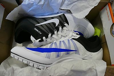 Nike Zoom Ja Fly 2 Mens Track & Field Spikes 705373-100 black white blue shoes