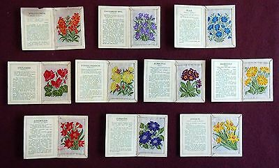 A collection of 10 Kensitas embroidered flower cards.#3