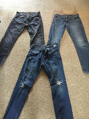 Lot Of 3 Young Men's Jeans American Eagle/Aeropostale 30/30