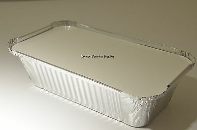 50 x No6a Foil Container Catering Aluminium Food Take Away Box