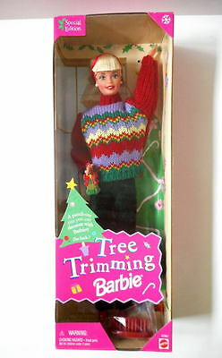 TREE TRIMMING BARBIE Holiday Special Ed. 22967 Mattel 1998 Christmas NRFB NEW