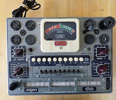 Vintage Jackson 715 Dynamic Tube Tester Serviced and Calibrated Nice