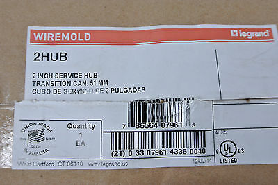 New!!  Wiremold 2Hub - 2 Inch Service Hub Tranistion Can 51Mm - Free Shipping!!!