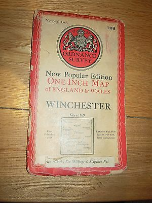 Vintage OS Map - Winchester -First Published 1945