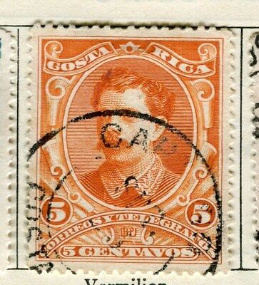 COSTA RICA;  1889 early classic issue fine used 5c. value