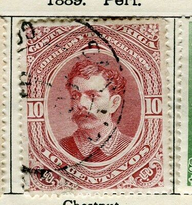 COSTA RICA;  1889 early classic issue fine used 10c. value