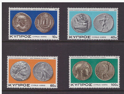 Cyprus 1977 Art  Antique Old Coins History set mint MNH stamps