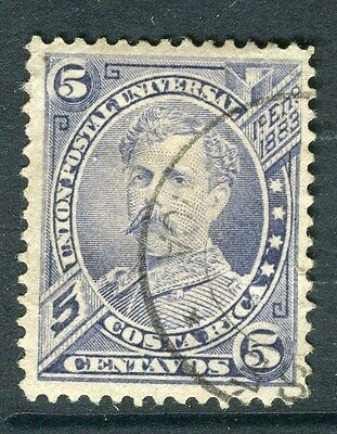 COSTA RICA;  1887 early classic issue fine used 5c. value