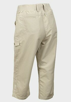 Ladies Lightweight Quick Dry Beige Cropped Walking Trousers Only £7.99 Free P&p