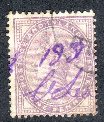 CLASSIC WORLD STAMPS- Victoria 1d lilac 14 dots ,1881 (#) United Kingdom