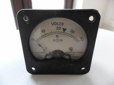 Vintage Collectable Volts Meter Moving Coil 1941 WW2 Aircraft?
