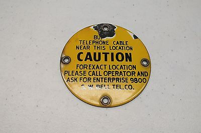 Two Metal Southwestern Bell Telephone Signs