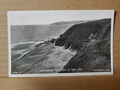 Postcard llwyngwril The beach at Rola cliff Wales posted ..XC3