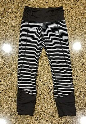 Rare Lululemon Parallel Stripe Runday Crops Leggings Size 6 SOLD OUT