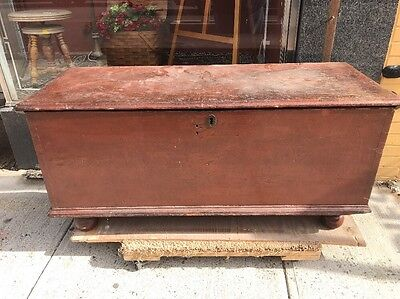 1800s Antique Pennsylvania Blanket, Hope, Dowry Chest w / hidden compartment
