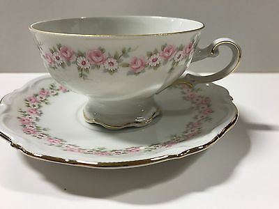 Lady Beatrice by Mitterteich Footed  Cup & Saucer Set - MINT CONDITIION!