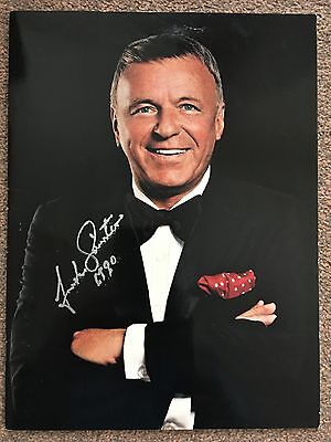 Frank Sinatra Hand Signed London Arena Tour Programme 1990
