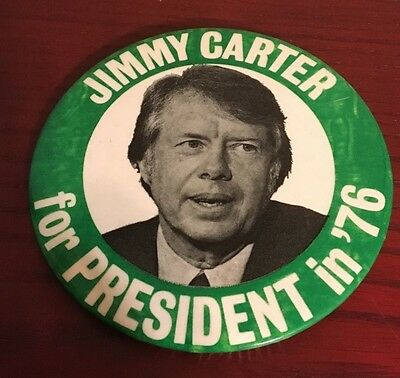 Vintage 1976 Jimmy Carter For President Campaign Button
