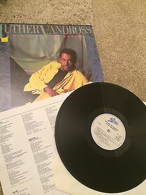 Luther Vandross - Give Me The Reason -  1986 - UK  Vinyl LP Record