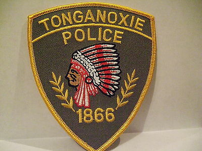 police patch  TONGANOXIE POLICE KANSAS  INDIAN HEAD